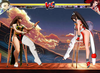 Chun li vs Mai Shiranui round 1 by TheZac
