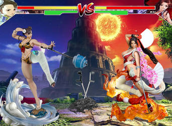 Chun li vs Mai Shiranui round 3 by TheZac