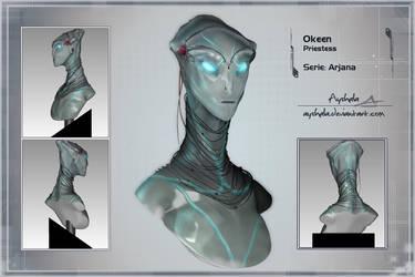 Arjana - Okeen priestess by Ayshala