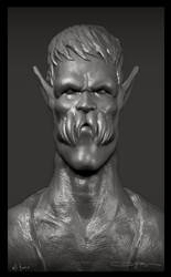 creature portrait sculpt by ali-tunc