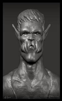 creature portrait sculpt