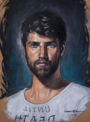 self portrait oil on board by ali-tunc