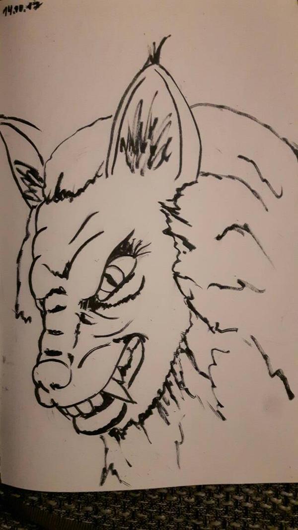 Inktober #14 Fierce  by Mullemuh
