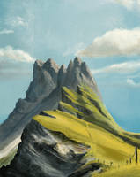 Mountain Study by Solfour