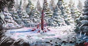 Snowy Forest Speedpaint