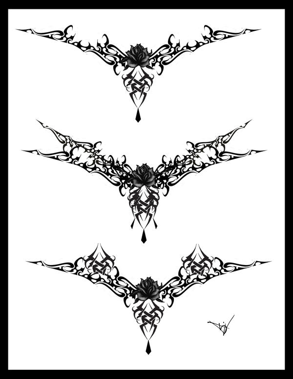 lace tattoo. Gothic Lace Tattoo Splash 004