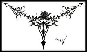 Gothic Lace Print Black 01