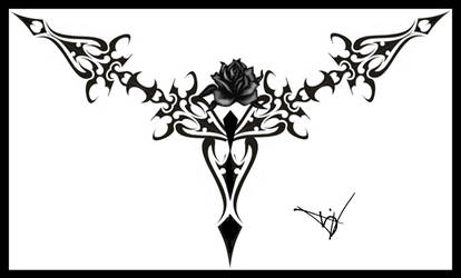 Gothic Lace Print Black 01 by Quicksilverfury