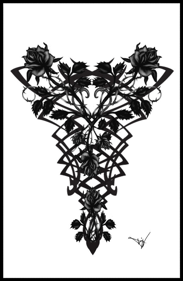 gothic vampire back tattoo by quicksilverfury on deviantart. Black Bedroom Furniture Sets. Home Design Ideas