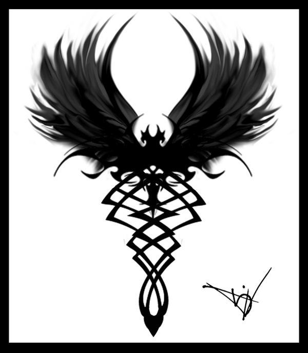 Gothic Vampire Bat Tattoo By Quicksilverfury