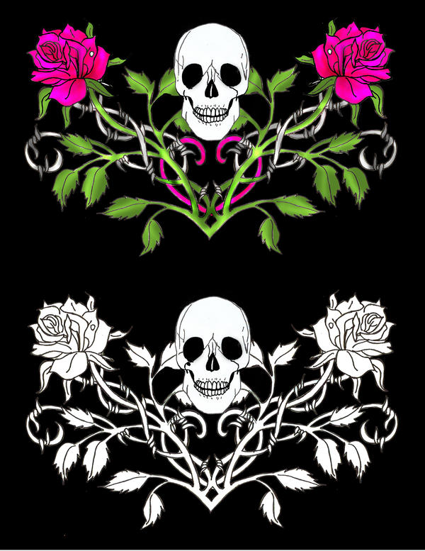 Gallery gothic skull draw for Gothic painting ideas