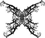 Gothic Butterfly Tattoo