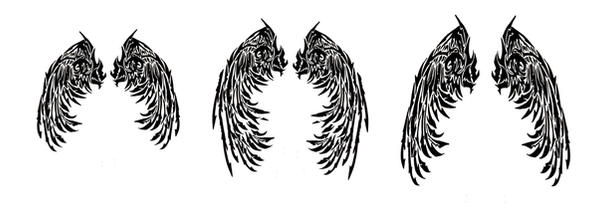 tribal angel wings tattoos by quicksilverfury on deviantart. Black Bedroom Furniture Sets. Home Design Ideas