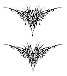 Gothic Vamp Heart Tat V1 by Quicksilverfury