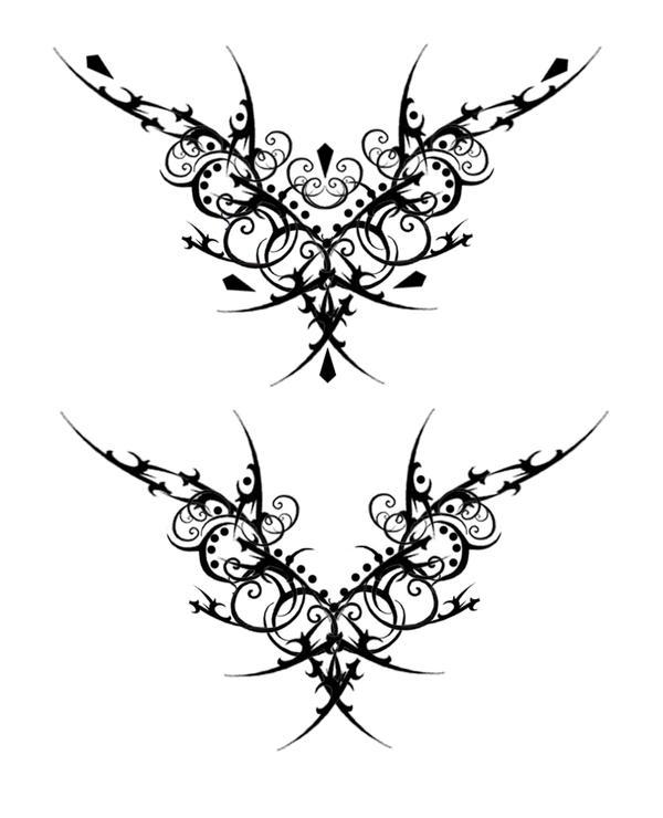 Gothic Vamp Tat V2 By Quicksilverfury