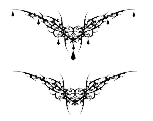 Gothic Vamp Heart Tat V2 By Quicksilverfury