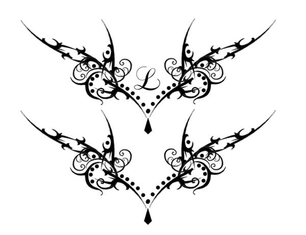 Gothic vamp lower back tat by quicksilverfury on deviantart for Lower back tribal tattoos