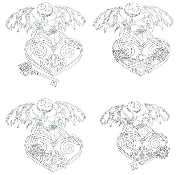 Jack Skellington Heart Tattoo By Quicksilverfury On DeviantArt