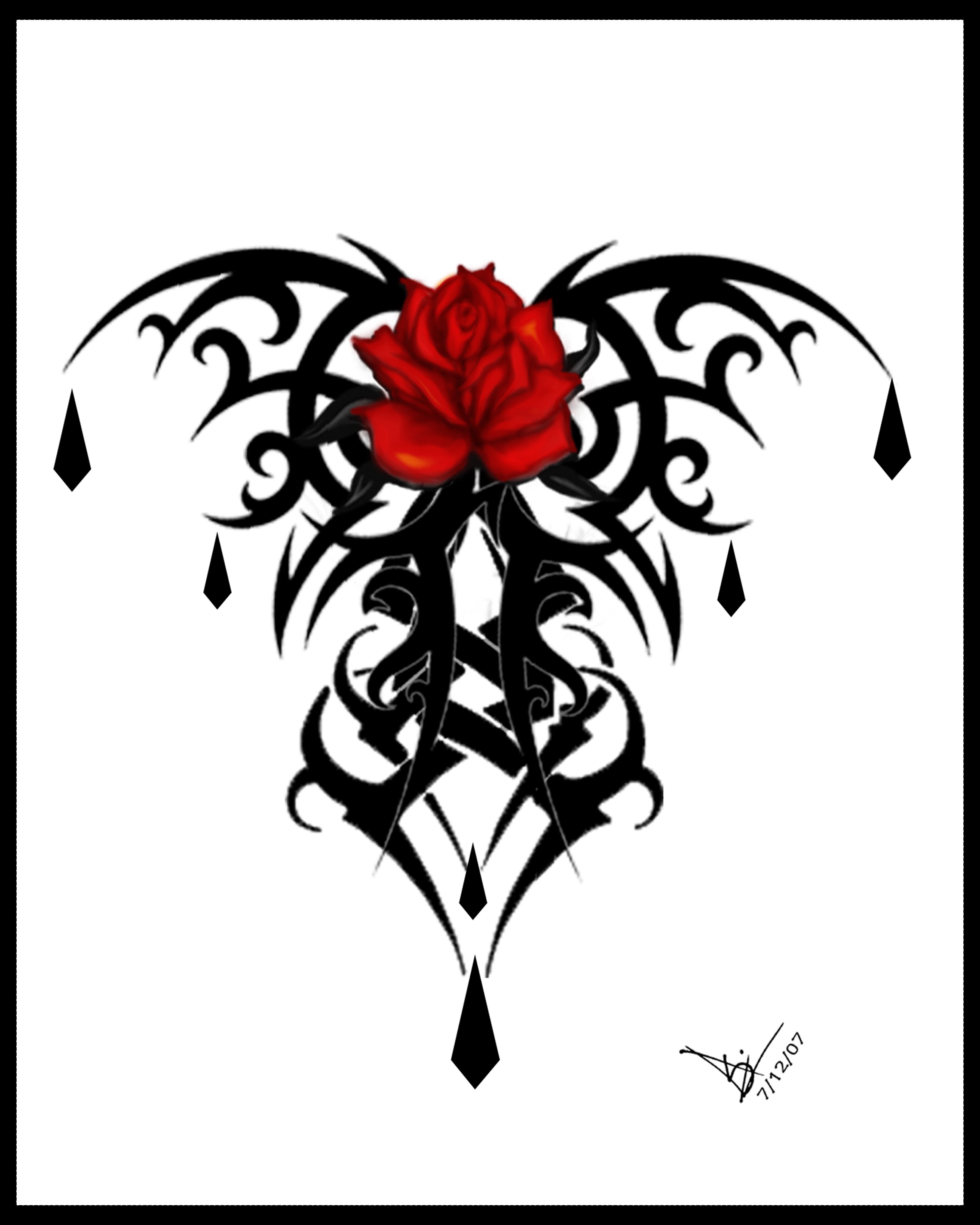 Gothic Heart Tattoos Gothic black r