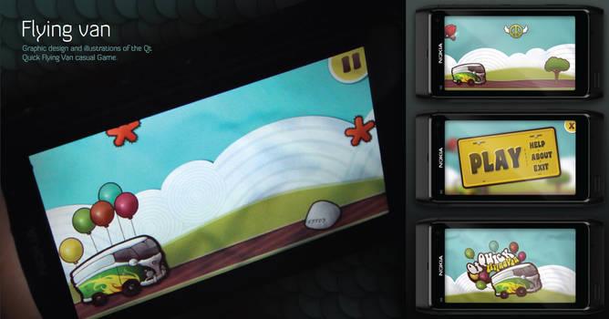Flying van mobile game