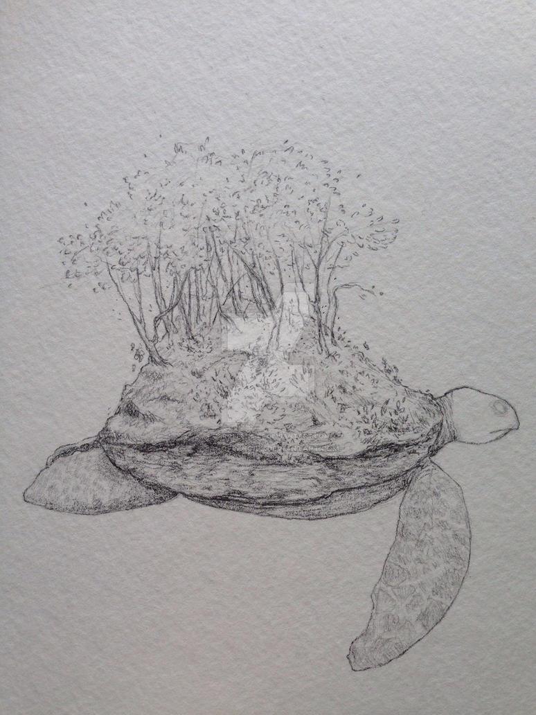 Sea turtle wip by Jarofpencils