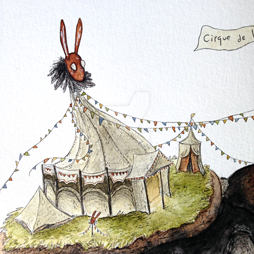 The Red Rabbit Circus close up by Jarofpencils