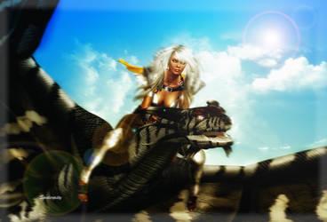 Rachuur the Dragon Rider by PGandara