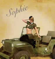 Sophie Army Pin Up by PGandara