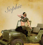 Sophie Army Pin Up