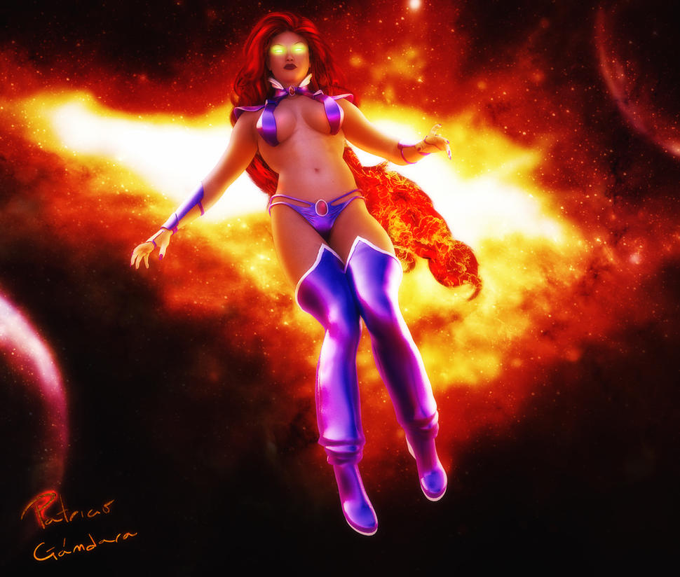 starfire by pgandara on deviantart