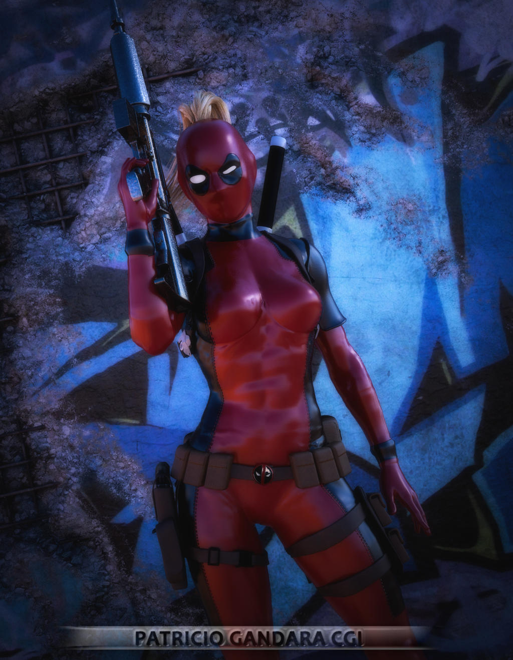 Deadpool with girls