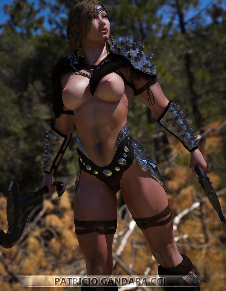 Barbarian Warrior Irene by PGandara