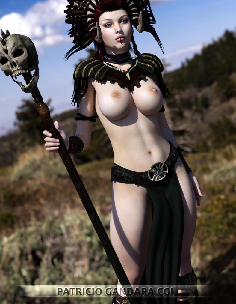 Barbarian Shaman/Mage Jessie by PGandara