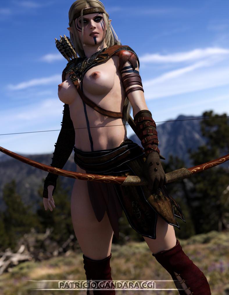 Barbarian Hunter Sophie by PGandara
