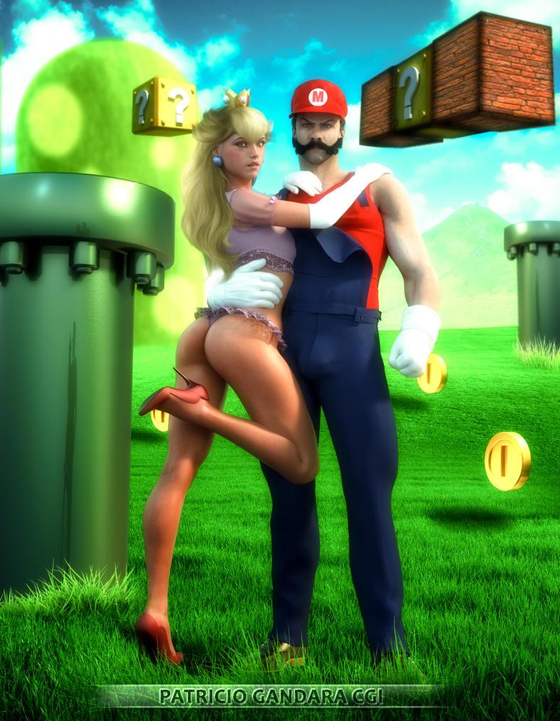 Mario and Peach by PGandara