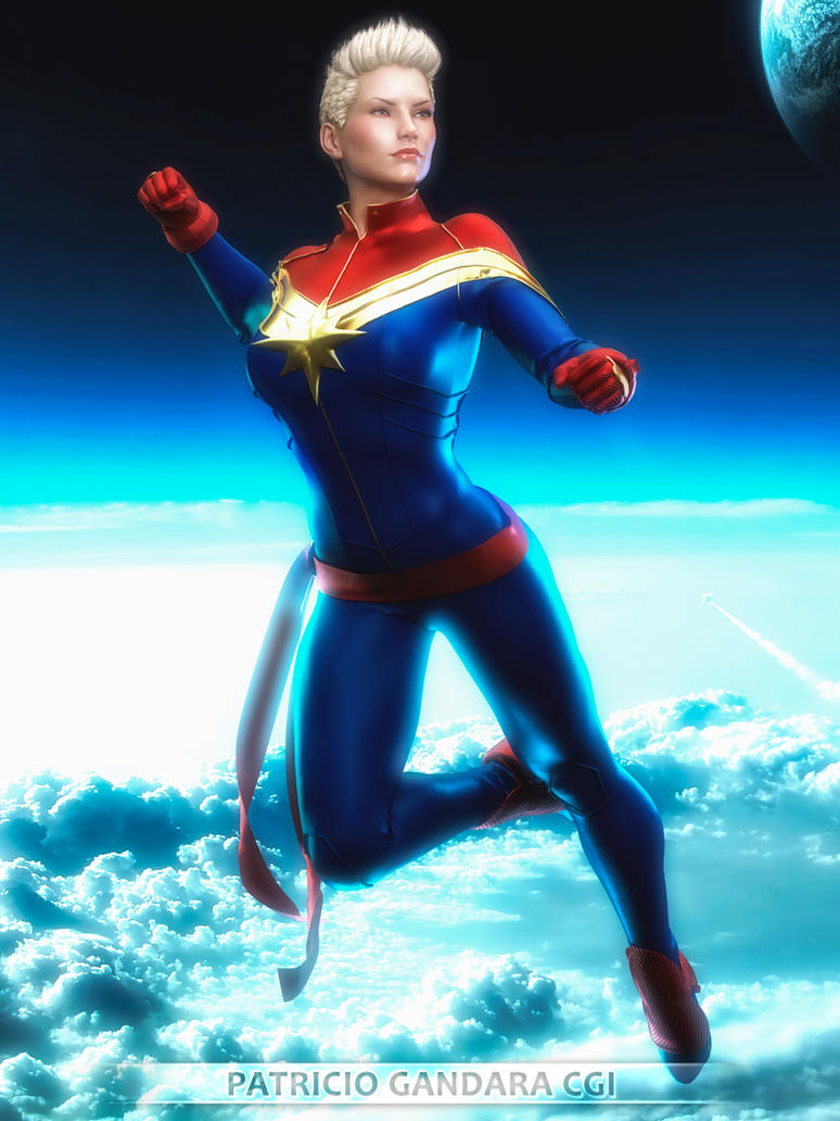 Captain Marvel by PGandara