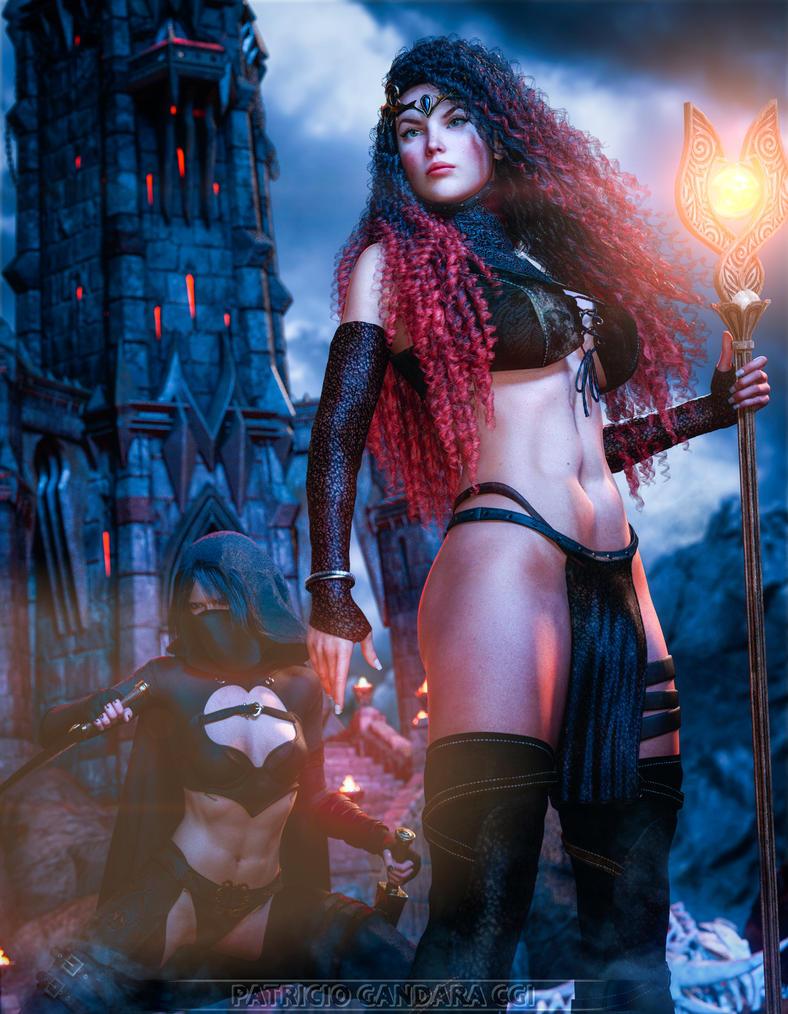 Sorcerer and Assassin by PGandara