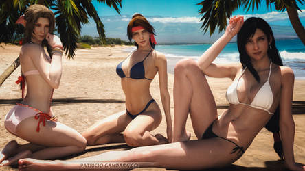 Final Fantasy Beach Girls
