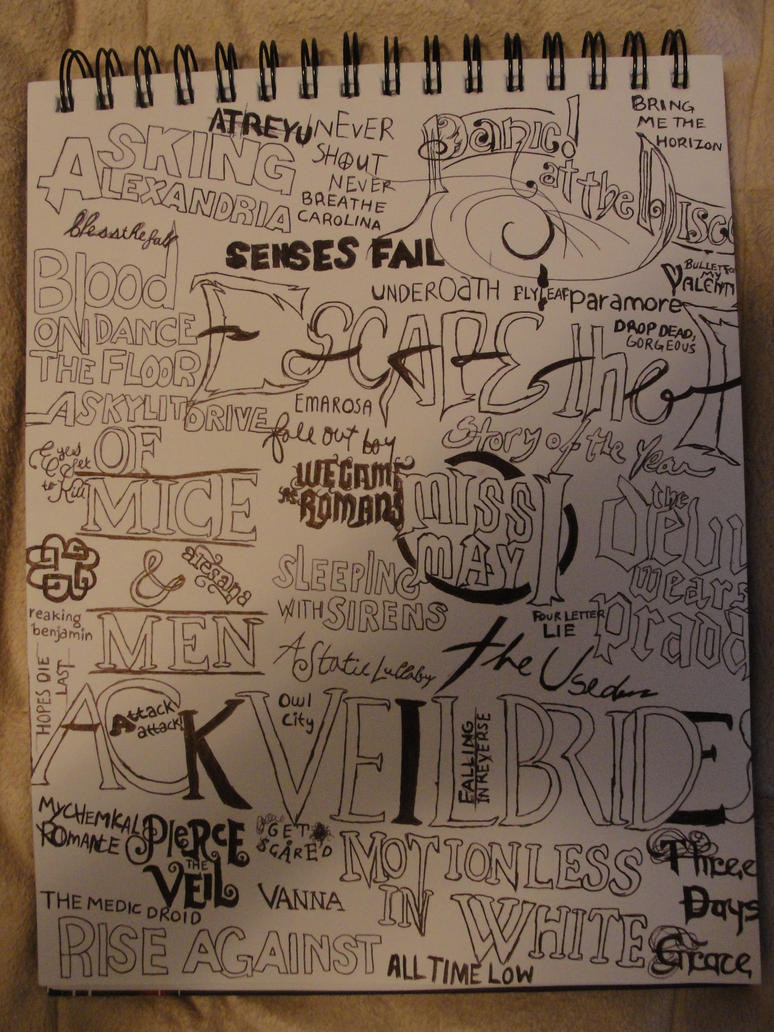 Band logos doodle by MisledMisery