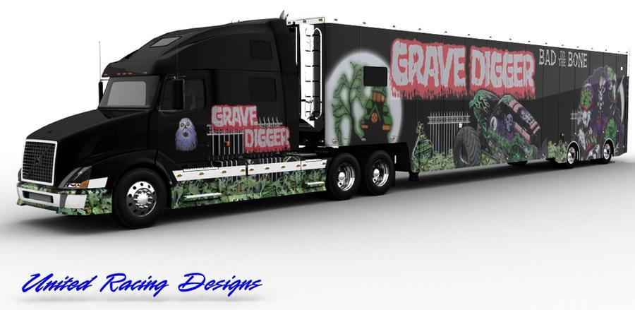 Grave digger 3d hauler by spindragun
