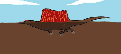 Swimming Spinosaurus by Animedino321