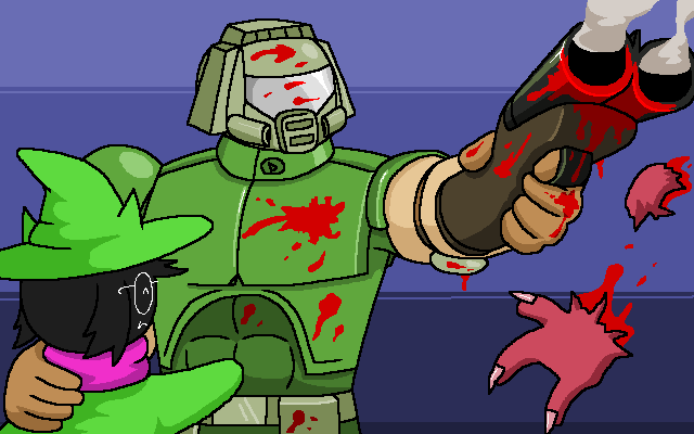 Doomguy And Ralsei By Aeea7835 On Deviantart