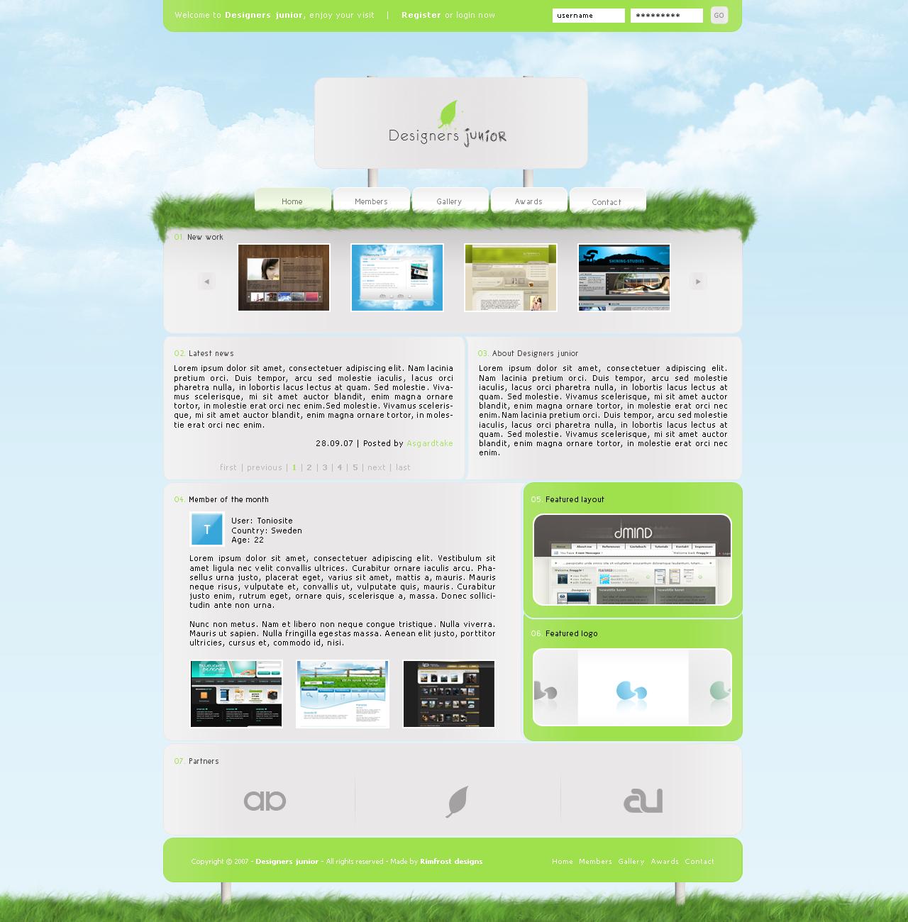 Designers junior layout