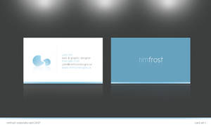 Rimfrost business card