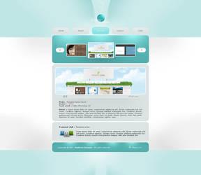 Aqua portfolio layout by Fictionfourtyfour