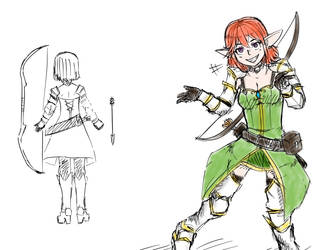 Character Sketch 16 - 04 - 22 by Orknology