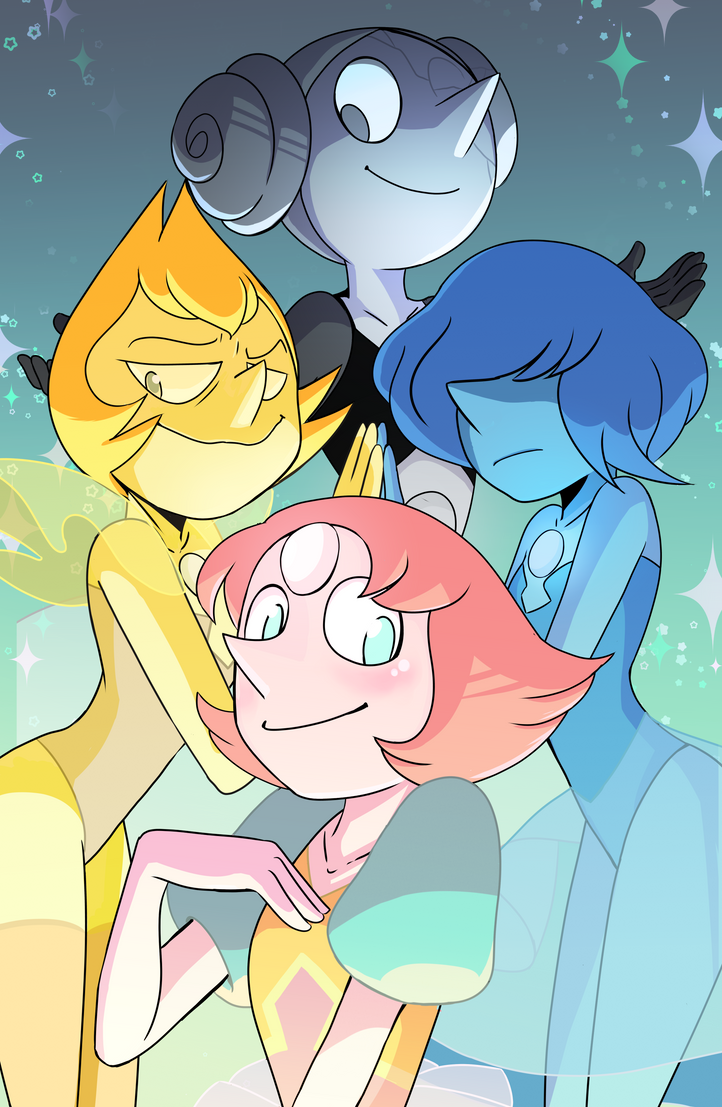 One of my Steven Universe Prints for FanExpo 2018 I secretly work on this work (and the other one for too long lol)  I really happy with the result   I LOVEEEEE all Pearls. They have a ve...