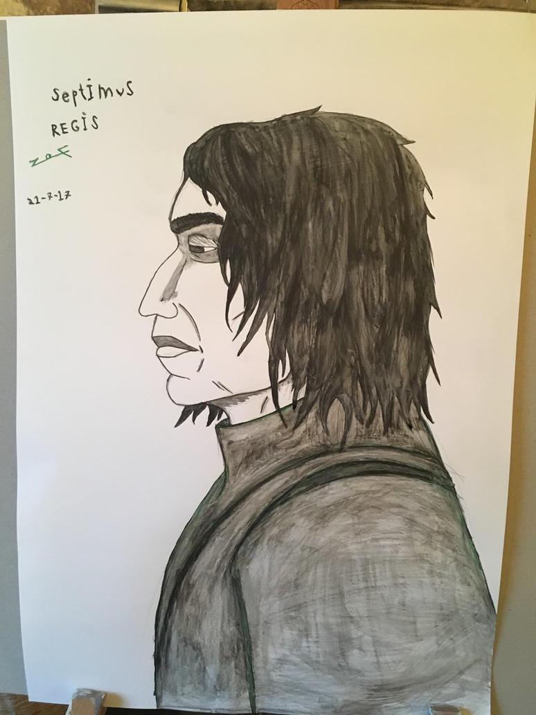 Severus Snape Portrait by Kakurosu