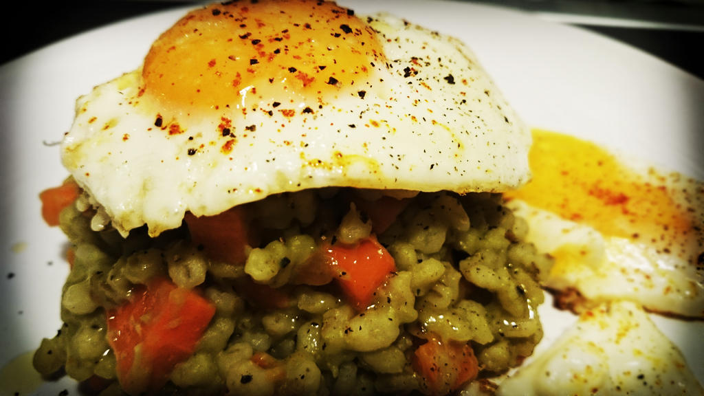 Pearl barley with carrots and broad beans by CookConcept