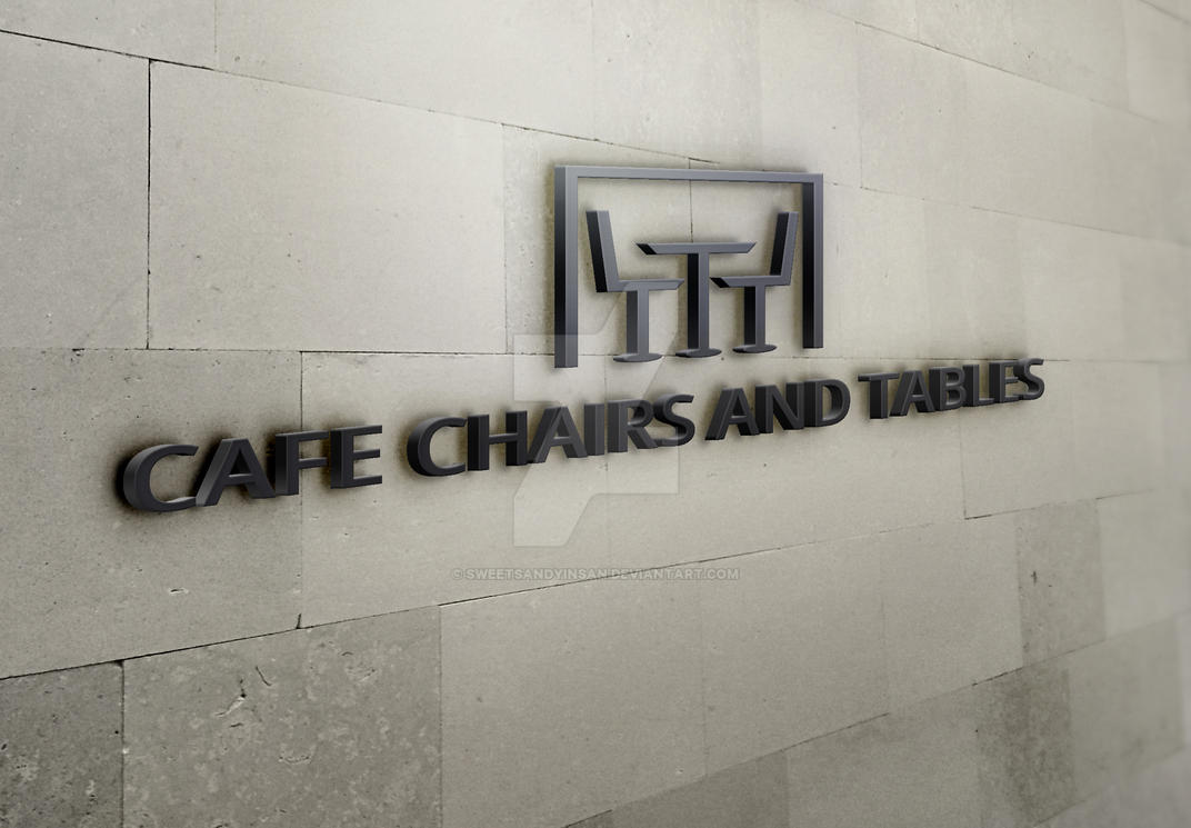 Cafe Chairs and Tables Logo by sweetsandyinsan